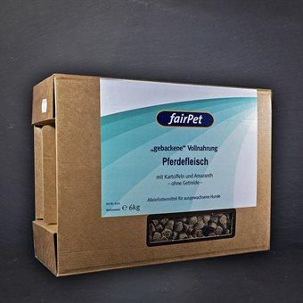 """fairPet """"gebackene"""" Vollnahrung Pferdefleisch 6 kg"""